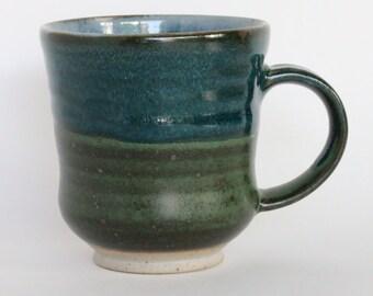 Blue Green Ceramic Mug, 9 oz.