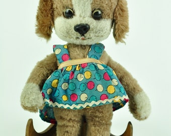 Schuco Dog Vintage Toy Made in Western Germany 60s Plush Toy
