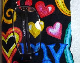 Glasses Case - I love my cat  print