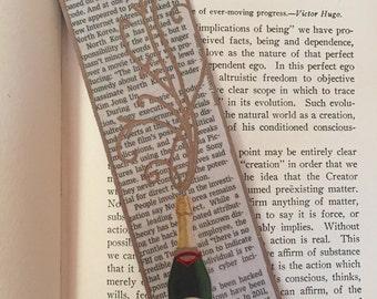 "Newspaper ""Champagne/Wine"" Bookmark"