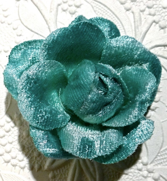 Basket Making Supplies Florida : Turquoise velvet flowers millinery supplies floral