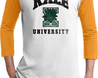 Yoga Clothing For You Mens Shirt Kale University Lights Raglan Tee T-Shirt = T200-LKALE