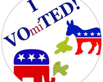 I VO(mi)TED! Stickers - 2016 Presidential Election - 3 for 5 dollars - Wear and share!