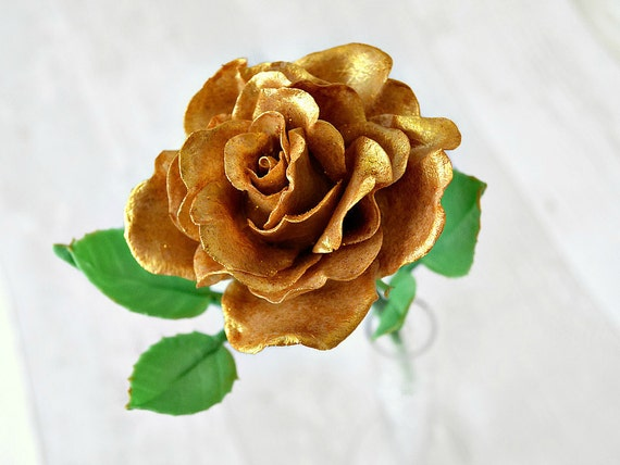 Golden Wedding Gifts Ideas: Golden Wedding Anniversary 50th Anniversary Gifts Gold Rose