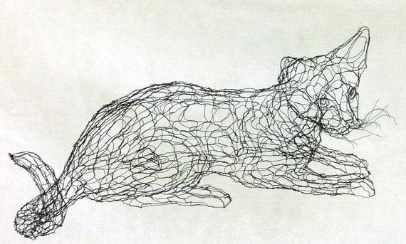 Wire Art Cats - WIRE Center •