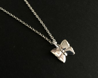 Dainty Butterfly Necklace, Sterling Silver Butterfly, Delicate Butterfly Necklace, Minimalist Necklace, Small Butterfly Necklace, StampedEve