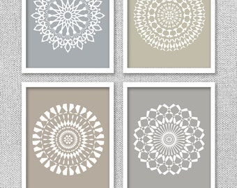 Medallion Wall Art Alluring Mandala Art Prints Medallion Wall Art Set Of 3 Modern Inspiration