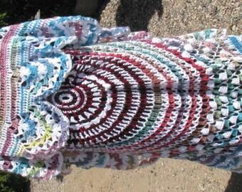 Multi-Colored Hand Crocheted Circular vest