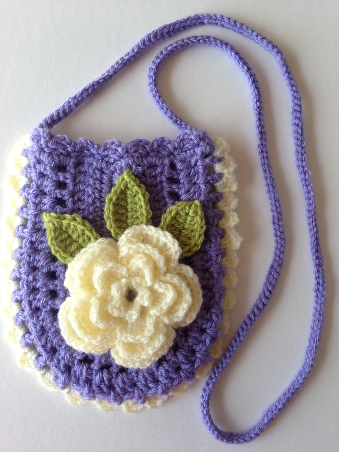 Crochet Bag For Girl : Girls Crochet Purse Peony Crochet Bag Teenagers Crochet Bag