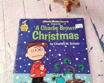 Charlie Brown Christmas Book Vintage A Charlie Brown Christmas Charles M Schulz Paperback Charlie Brown Book 1977 Read Along Chrismas Book