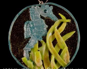 Sea Horse Clay Pendant