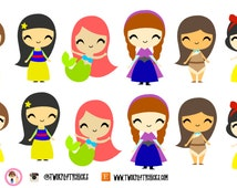16 Princess Planner stickers