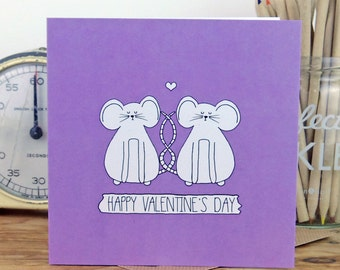 Mouse Valentine's Card