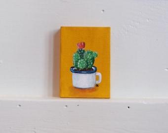 Mini Cactus Painting