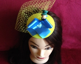 Gorgeous hat Mad Hatter - Alice in Wonderland, sunny yellow and blue hat