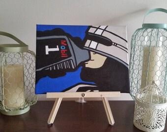 "Robocop Funny ""Mobile 1 is Life"" - Custom Handpainted Acrylic Canvas"
