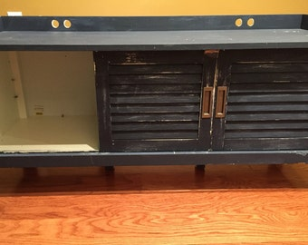 Distressed Mud Room Storage Cabinet