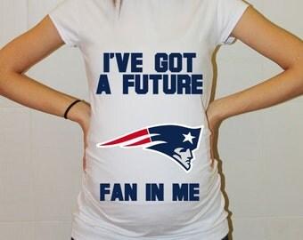 New England Patriots Baby New England Patriots Shirt Maternity Maternity Shirt Football Funny Pregnancy Pregnancy Shirts Pregnancy Clothes