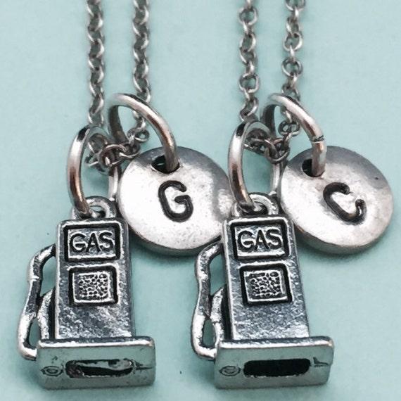Best friend necklace gas pump necklace gas necklace bff