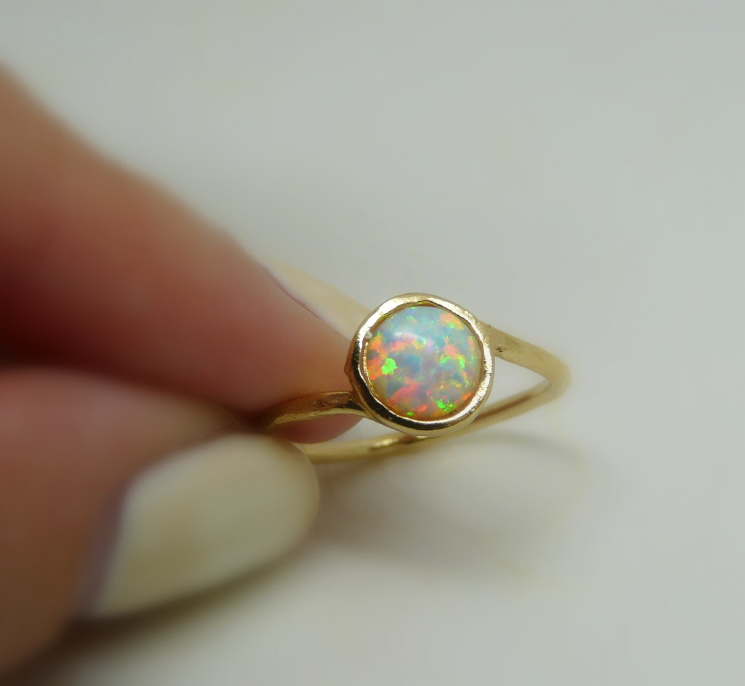 opal ring opal jewelry white opal ring gold filled opal