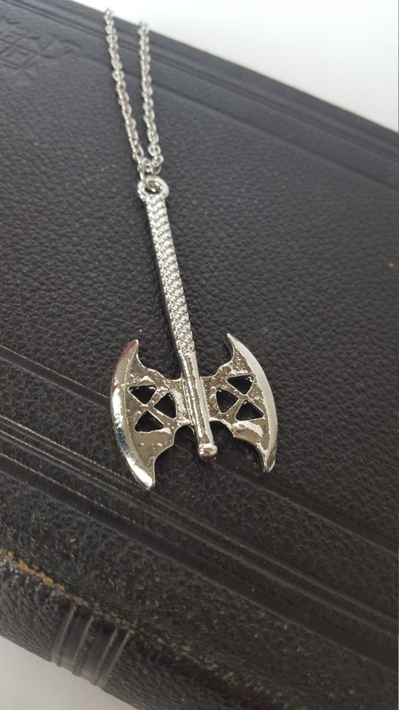 lord of the rings axe necklace by silverandgoth on etsy