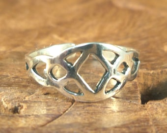 Geometrical Toe Ring - Sterling silver