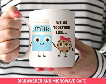 Coffee Mug Best Friends We Go Together Like Milk and Cookies Coffee Cup - Cute Best Friends Mug
