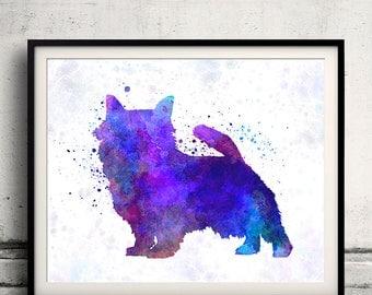 Norwich Terrier in watercolor 8x10 in. to 12x16 in. Fine Art Print Glicee Poster Decor Home Watercolor Illustration - SKU 1217