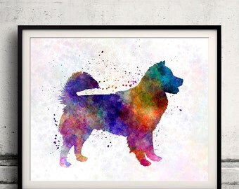 Thai Bangkaew Dog 01 in watercolor - Fine Art Print Glicee Poster Decor Home Watercolor Illustration - SKU 1386