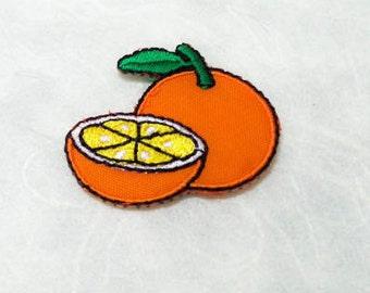 Orange Iron on Patch(S) - Orange Applique Embroidered Iron on Patch-Size 3.7x3.2cm