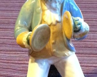 Ceramic Frog,Frog Figurine,Frog Sculpture,Frog Art,Frog Statue,Vintage Frog Figure,Musician Figurine,Musician Sculpture,Frog Gift,Cymbals