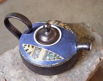 Pottery Teapot. Ceramic Tea Pot. Handmade and Hand Painted Clay Teapot, Danko Pottery, Artisan Pottery, Wheel Thrown Pottery