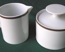Thomas China (Rosenthal group - Germany) Cream & Sugar- mid century modern