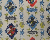 Unique Power Rangers Fabric Related Items Etsy