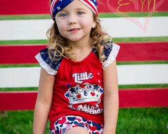 READY TO SHIP--Fourth of July Criss-Cross Turban--Patriotic Headband