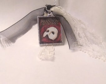 Phantom of the Opera pendant with chain Phantom jewelry custom Phantom of the Opera necklace
