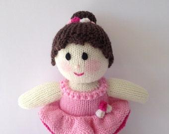 Knitted Ballerina Doll. Australian made Toy Doll.