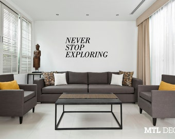 never stop exploring wall decal travel wall sticker home decor - Travel Home Decor