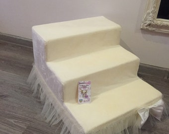 Ballerina ivory pet stairs Dog stairs Dog steps Stairs for pet