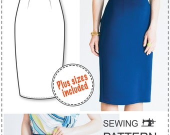 Pencil Skirt Pattern - PDF Sewing Patterns