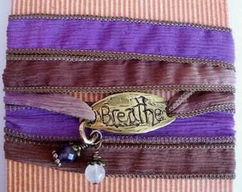 Breathe  silk wrap bracelet.