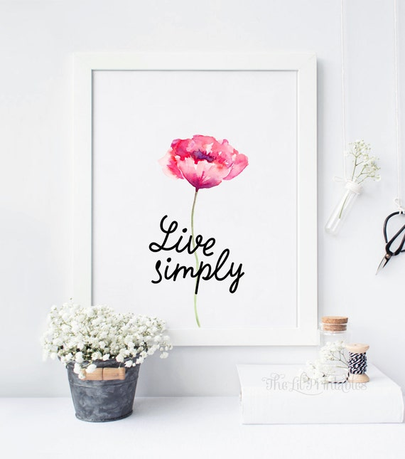 Items similar to live simply simple wall art simple for Live simply wall art