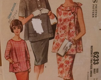 mccall's 6233 vintage women's maternity sewing pattern