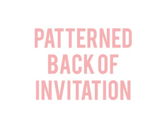 Back of Invitation Pattern to Coordinate