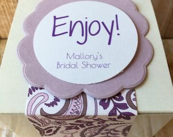 8 ~ Bridal Shower Favor Boxes, Customized Bridal Shower Favors, Personalized Bridal Shower box, Bridal Shower favors