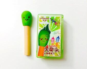 Match Eraser and Match Box Sharpener Set