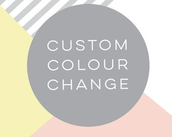For Invitation or Announcement - Custom Colour Change