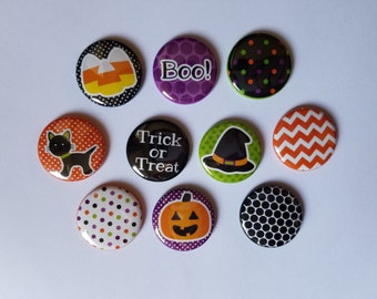 TEN 1 inch Halloween Bottlecap image button flatback/Magnet/Pinback/hollow