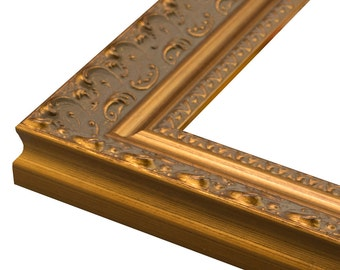 "Ornate Antique Gold Picture Frame. 2"" All sizes 3x5,4x6,5x7,6x8,8x10,9x12,11x14,12x16,14x18,16x20,18x24,20x24,20x30,22x28,24x30,24x36"