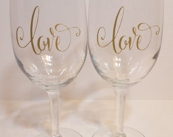 Gold rim wine glass etsy - Lenox gold rimmed wine glasses ...